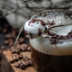 Milk foam with chocolate chips on a cup of cappuccino. - PhotoDune Item for Sale