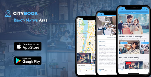 CityBook – Listing Directory React Native mobile app