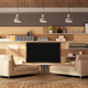 Modern living room with home cinema system - 3d rendering - PhotoDune Item for Sale