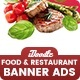 Food & Restaurant Banners HTML5 Ad D66 - GWD & PSD - CodeCanyon Item for Sale