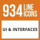 934 UI & Interfaces Line Green & Black Icons - GraphicRiver Item for Sale