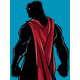 Superhero Back Battle Mode Silhouette - GraphicRiver Item for Sale