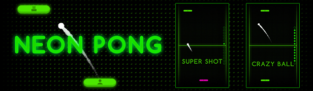 Neon Pong - HTML5 Arcade Game by codethislab | CodeCanyon