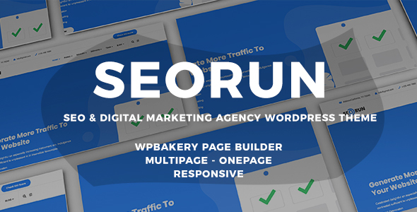 Seorun - Digital Marketing Agency WordPress Theme