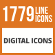 1779 Digital Line Green & Black Icons - GraphicRiver Item for Sale