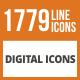 1779 Digital Line Green & Black Icons - GraphicRiver Item for Sale