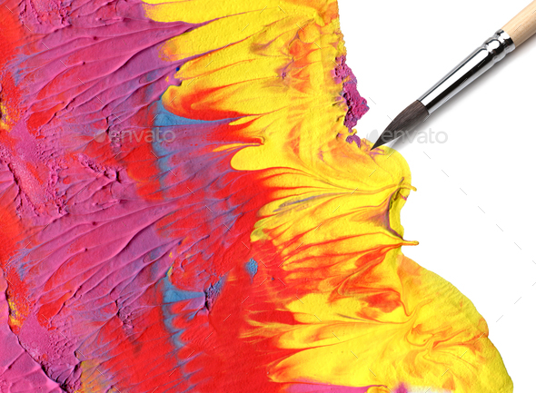 Brush and color - Stock Photo - Images