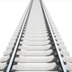 Single rail isolted on white background. 3d rendering - PhotoDune Item for Sale