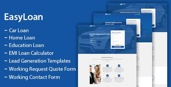 Top EasyLoan - Loan Company Website Templates
