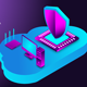 Gradient Isometric Data and Hosting Concept - VideoHive Item for Sale