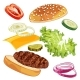 Burger Ingredients - GraphicRiver Item for Sale