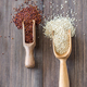 Scoops of white and red quinoa - PhotoDune Item for Sale