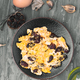 homemade tortilla of Spanish chorizo in gray rustic setting - PhotoDune Item for Sale