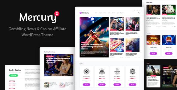 Mercury - Gambling News & Casino Affiliate WordPress Theme - News / Editorial Blog / Magazine