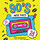 90s Music Party Flyer - GraphicRiver Item for Sale