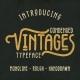 Vintages Typeface - GraphicRiver Item for Sale