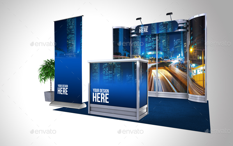Exhibition Stand Mockup : Exhibition stand mock up p by azzurrodesign graphicriver