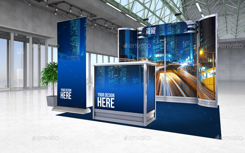 Design Your Exhibition Stand : Exhibition stand mock up p by azzurrodesign graphicriver