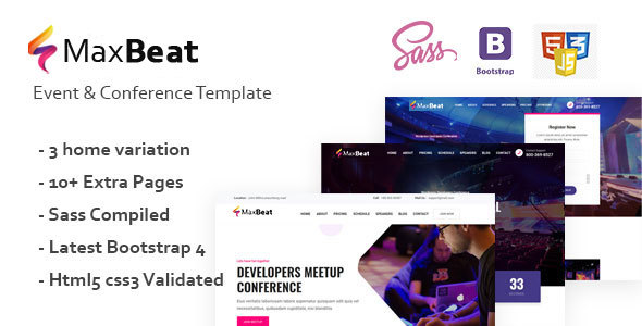 Maxbeat - Event & Conference HTML5 Template