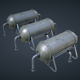 Mars Kitbash - Fuel Containers - 3DOcean Item for Sale