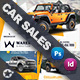 Car Sales Postcard Bundle Templates - GraphicRiver Item for Sale