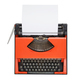 Red typewriter with Danish keyboard isolated - PhotoDune Item for Sale