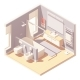 Vector Isometric Bathroom Interior - GraphicRiver Item for Sale