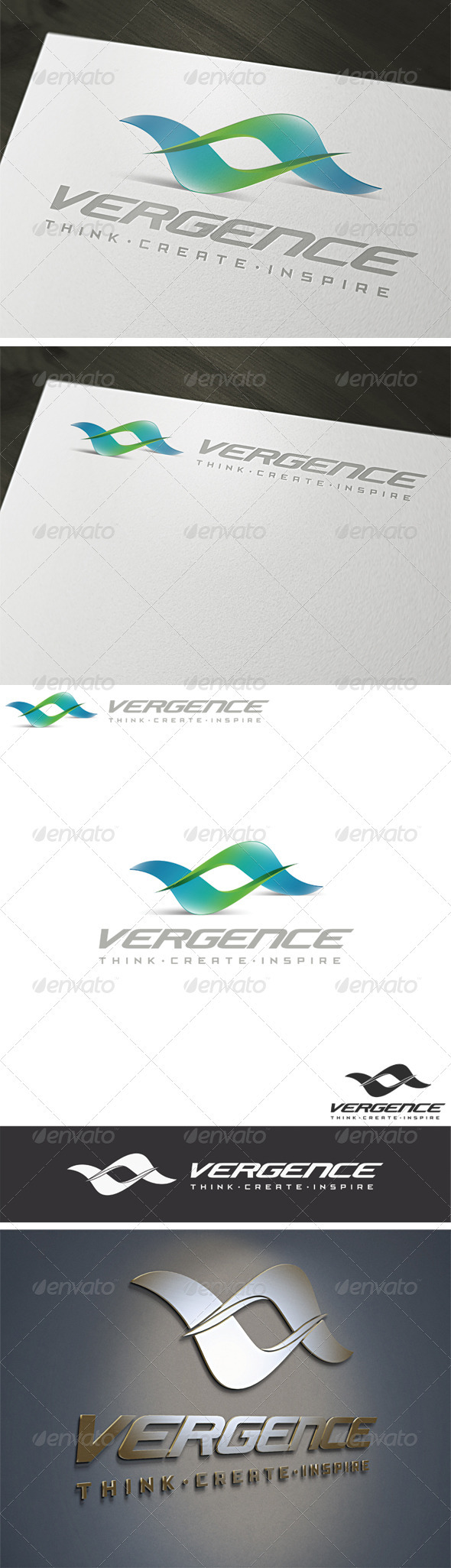 3D Vergence Logo Template - Vector Abstract