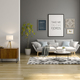 Interior of modern living room with sofa and furniture 3D rendering - PhotoDune Item for Sale