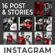 Barber Shop Instagram Post and Stories - GraphicRiver Item for Sale