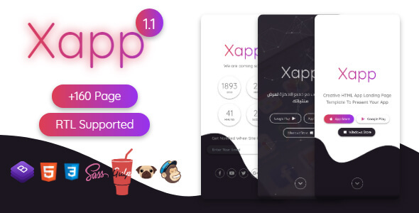 Xapp - HTML App Landing Page Template