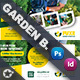 Garden Landspace Postcard Bundle Templates - GraphicRiver Item for Sale