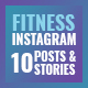 10 Instagram Fitness Posts & Stories - GraphicRiver Item for Sale
