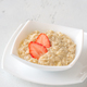 Bowl of oats with fresh strawberries - PhotoDune Item for Sale