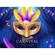 Carnival Mask at Mardi Gras Parade Banner - GraphicRiver Item for Sale