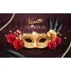 Mardi Gras Carnival Banner Flyer with Mask - GraphicRiver Item for Sale