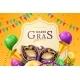 Mask Carnival at Mardi Gras Invitation Flyer - GraphicRiver Item for Sale