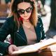 Woman reading menu - PhotoDune Item for Sale