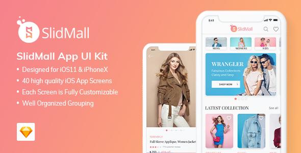 SlidMall E-Commerce Mobile App - UI Kit