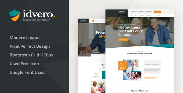 idvero - Insurance Company HTML Template