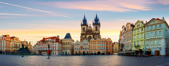 Town Square in Prague - Stock Photo - Images