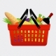 Shopping Basket with Groceries Isolated - GraphicRiver Item for Sale