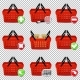 Shopping Basket Set Isolated - GraphicRiver Item for Sale