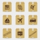Cardboard Box Icons with Delivery Signs Isolated - GraphicRiver Item for Sale