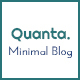 Quanta | Minimalist & Personal Blog PSD Template - ThemeForest Item for Sale
