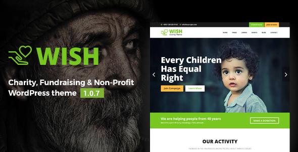 Wish – Charity WordPress Theme Free Download