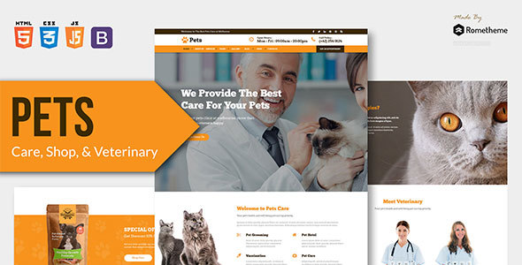 Incredible PETS - Pet Care, Shop, and Veterinary HTML Template