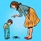 Mother and Guilty Son. Broken Phone - GraphicRiver Item for Sale