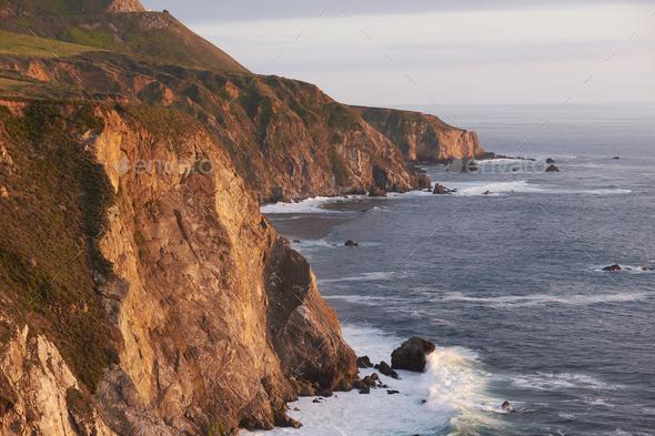 Pacific coast landscape in California - Stock Photo - Images