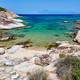Beautiful beach and rocky coastline landscape in Greece - PhotoDune Item for Sale